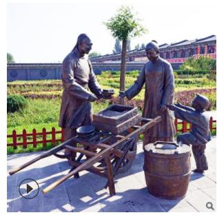 铸铜人物雕像小品雕塑户外广场铜像人物步行街金属雕塑做旧