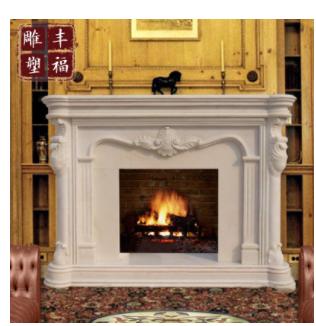 欧式雕刻电壁炉 石雕真火壁炉 家装采暖炉 室内装饰壁炉 FFBLW-14