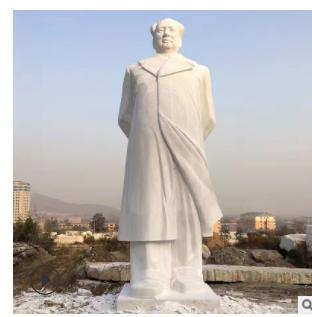 背手主席像汉白玉主席雕像大型人物雕塑石材加工厂家定做批发