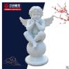 石雕小人儿西方天使雕塑丘比特汉白玉摆件教堂装饰品室内户外摆件