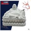 汉白玉弥勒佛雕塑寺庙供奉佛像大理石肚弥勒佛摆件笑和尚