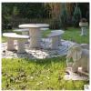 石雕桌椅公园长凳供应 户外桌椅组合 天然花岗岩欧式石桌椅