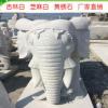 吉林石材价格天岗白石象雕刻花岗岩大理石厂家批发门庭摆放