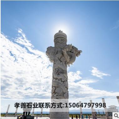 石龙柱浮雕盘龙柱华表花岗岩大型石柱子寺庙家祠景区广场盘龙柱