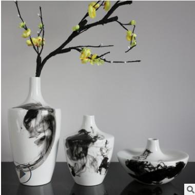 厂家批发现代简约中式景德镇陶瓷花瓶软装家居客厅样板房装饰摆件