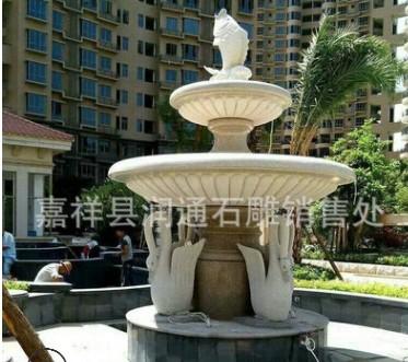 山东嘉祥石雕喷泉厂家直销 石喷泉 石水钵 包安装