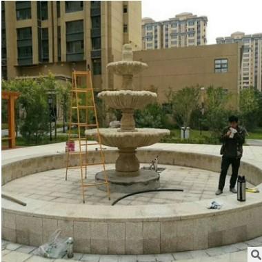 厂家直销石雕喷泉欧式 大理石风水球流水别墅景区园林景观摆件