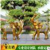 园林户外玻璃钢雕塑大型动物仿石雕大象雕塑定制批发酒店大门摆件