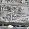 山东鲁鑫出售文化墙石雕壁画 晚霞红石雕工艺品广场浮雕壁画