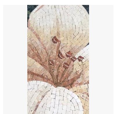 大理石马赛克剪画背景墙玄关过道艺术