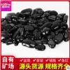 南京抛光雨花石黑色鹅卵石园艺装饰庭院铺路精品雨花石造景石头