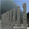 大理石盘龙柱子浮雕厂家 石材龙柱价格 文化柱华表柱雕刻图片