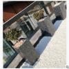 水泥花盆水磨石长方形现代北欧大号落地桌面多肉植物盆景花器园艺