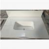 人造石花纹板洗手台 白色石英石一体洗手台耐刮花抗污染 定制加工