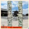 仿古青石镂空沉浮雕刻 华表双盘惠安龙柱 子传统寺庙园林广场公园
