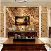 艺术瓷砖欧式客厅沙发 彩雕瓷砖背景墙 大理石通体石材罗马柱