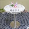 长期供应 简约现代奶茶甜品店吧台桌 圆形洽谈桌酒吧单桌定制