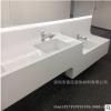 大型商场人造石洗手台面 亚克力台盆一体盆定制 白色人造石洗手盆