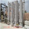 市政园林景观石头圆柱子大理石石材十二生肖文化柱厂家