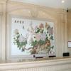 天然中国风大理石石材彩雕室内电视背景墙