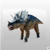 玻璃钢树脂恐龙仿真恐龙三角龙公仔卡通霸王龙模型游乐园落地摆件
